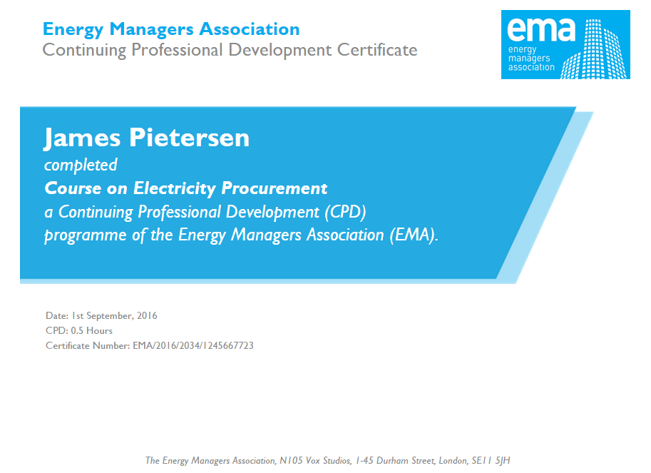 Course On Electricity Procurement